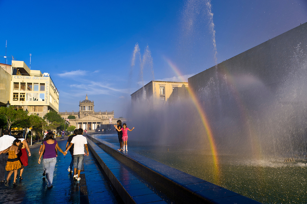 Plaza Tapatia in the historic Center of Guadalajara, Jalisco, Mexico