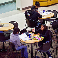 012413       Cable Hoover<br /> <br /> Students study and socialize at the UNM-G campus in Gallup Thursday.