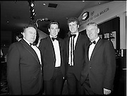 18/01/1981<br /> 01/18/1981<br /> 18 January 1981<br /> Texaco Sportsters awards at the Burlington Hotel, Dublin. Picture shows four of the Texaco Sportstars (l-r): Ger McKenna, Tipperary, Greyhound Racing; Sean Kelly, Tipperary, Cycling; Jack O'Shea, Kerry, Gaelic Football and Paddy Coad, Waterford, Hall of Fame Award (Soccer) at the presentations.