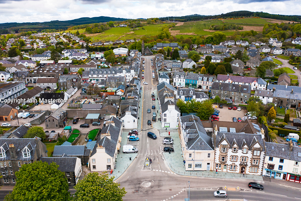 Aerial view of Lochgilphead in Argyll and Bute, Scotland, UK
