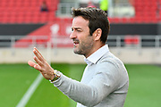 Leeds United manager Thomas Christiansen before the EFL Sky Bet Championship match between Bristol City and Leeds United at Ashton Gate, Bristol, England on 21 October 2017. Photo by Graham Hunt.