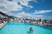 May 20-24, 2015: Monaco Grand Prix: Monaco GP atmosphere on the Fairmont hotel