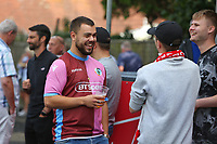 Football - 2021 / 2022 Emirates FA Cup - First Round Qualifying - Worthing vs Corinthian-Casuals - The Crucial Environment Stadium, Woodside Road - Saturday 4th September 2021<br /> <br /> Supporters from both side mingle for a pint before kick off The Crucial Enviromental Stadium <br /> <br /> COLORSPORT/SHAUN BOGGUST