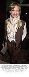 COUNTESS MAYA VON SCHONBURG ZU GLAUCHAU & WALDENBURG former wife of Friedrich Christian Flick, at a party in London on 29th November 2000.OJR 197