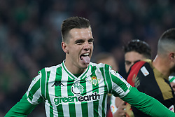 December 9, 2018 - Seville, Andalucía, Spain - Betis players celebrate the first goal for Real Betis during the LaLiga match between Real Betis and Rayo in Benito Villamarín Stadium  (Credit Image: © Javier MontañO/Pacific Press via ZUMA Wire)