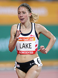 England's Iona Lake in the Women's 3000m Steeplechase Final at the Carrara Stadium during day seven of the 2018 Commonwealth Games in the Gold Coast, Australia.