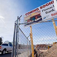 113012       Cable Hoover<br /> <br /> A new Pinnacle Bank is currently under construction at Aztec Avenue and First Street in downtown Gallup. The move is likely to effect traffic in the area.