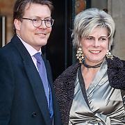 NLD/Amsterdam/20180203 - 80ste Verjaardag Pr.Beatrix, aankomst Constantijn der Nederlanden en partner