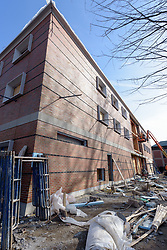 Major Renovation Litchfield Hall WCSU Danbury CT<br /> Connecticut State Project No: CF-RD-275<br /> Architect: OakPark Architects LLC  Contractor: Nosal Builders<br /> James R Anderson Photography New Haven CT photog.com<br /> Date of Photograph: 28 February 2017<br /> Camera View: 07 - North and West Elevations - Vertical Image