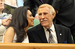 File photo dated 22/06/11 of Sir Bruce Forsyth and his wife Wilnelia in the Royal Box on Centre Court during Day Three of the 2011 Wimbledon Championships, as the veteran entertainer has died aged 89.