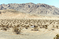 October 17, 2018 - Johnson Valley, California, U.S. - Team Hoehn Porsche navigates the course on Day 5 of the third annual Rebelle Rally, the first women's off-road navigation rally in the United States. The event features a unique scoring system in which precise navigation - not speed - is the ultimate goal.  With cell phones and GPS devices banned during the 10-day event, and armed with just maps, compasses and roadbooks, 43 two-person teams are tasked with scoring points based on time, distance and hidden checkpoints as they make their way across 1,600 miles of scrub brush, sand dunes and boulders in the Nevada and California desert.(Credit Image: © Brian Cahn/ZUMA Wire)