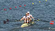 "Rio de Janeiro. BRAZIL.   NOR M2X Bow. Kjetil<br /> BORCH and Olaf<br /> TUFTE, 2016 Olympic Rowing Regatta. Lagoa Stadium,<br /> Copacabana,  ""Olympic Summer Games""<br /> Rodrigo de Freitas Lagoon, Lagoa. Local Time 12:00:06   Saturday  06/08/2016 <br /> <br /> [Mandatory Credit; Peter SPURRIER/Intersport Images]"