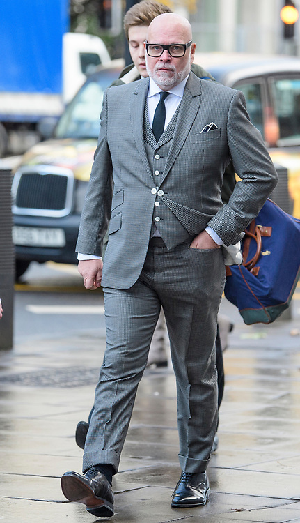 © Licensed to London News Pictures. 28/11/2017. London, UK. GARY GOLDSMITH, an uncle of the Duchess of Cambridge, arrives at Westminster Magistrates Court in London where he is due to be sentenced for assault. The younger brother of Kate Middleton's mother punched his wife, Julie-Ann Goldsmith, during a late night argument outside their west London home, following a night out. Mr Goldsmith has pleaded guilty and will return for sentencing next week. . Photo credit: Ben Cawthra/LNP