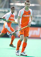 ROTTERDAM - HOCKEY -  Nicki Leijs tijdens de oefenwedstrijd tussen de mannen van Nederland en Engeland (2-1) . FOTO KOEN SUYK