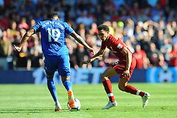 Nathaniel Mendez-Laing of Cardiff City tries to get past Trent Alexander-Arnold of Liverpool - Mandatory by-line: Nizaam Jones/JMP - 21/04/2019 -  FOOTBALL - Cardiff City Stadium - Cardiff, Wales -  Cardiff City v Liverpool - Premier League