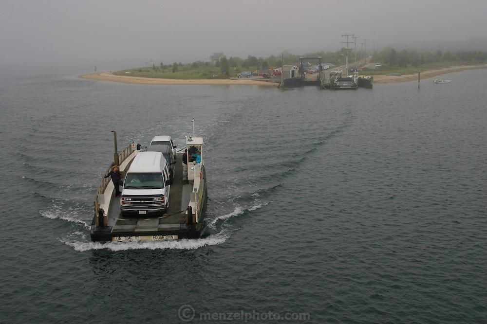 Ferry from Martha's Vineyard to Chappaquiddick Island, Massachusetts.