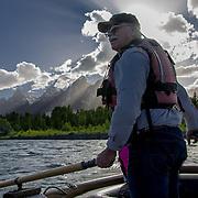 Rafting the Snake River, Grand Teton National Park, Wyoming.