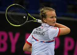 November 8, 2018 - Prague, Czech Republic - Barbora Krejcikova of the Czech Republic during practice ahead of the 2018 Fed Cup Final between the Czech Republic and the United States of America (Credit Image: © AFP7 via ZUMA Wire)