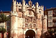 SPAIN, CASTILE, BURGOS Arco de Santa Maria 14thc. gate in walls