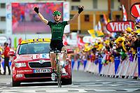 CYCLING - TOUR DE FRANCE 2011 - STAGE 19 - Modane Valfréjus > Alpe d'Huez (109,5km) - 22/07/2011 - PHOTO : VINCENT CURUTCHET / DPPI - PIERRE ROLLAND (FRA) / EUROPCAR / WINNER