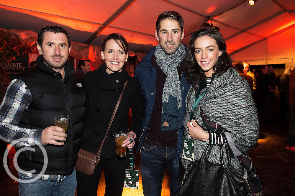 Paul Langan, Geraldine Holland Turloughmore with Ian Morrissey and Lorraine Commins Salthill at the Jameson Cult Film Club screening of Friday the 13th Part 2 in the Black Box Theatre in Galway.  Photo:Andrew Downes