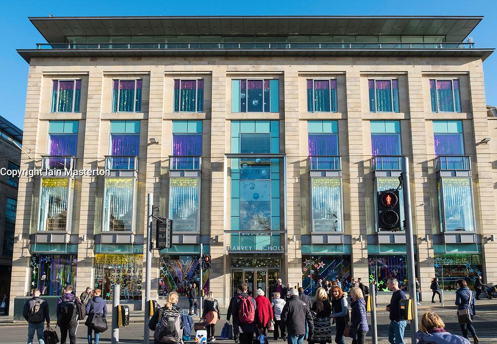 Exterior view of Harvey Nichols store on St Andrews Square in Edinburgh, Scotland, United Kingdom.