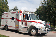 An ambulance carrying a possible 2nd Ebola patient arrives at Texas Health Presbyterian Hospital where the first Ebola patient, Thomas Eric Duncan, died this morning on October 8, 2014, in Dallas. (Cooper Neill for The New York Times)