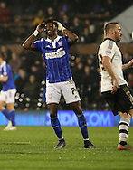 Ipswich midfielder Ainsley Maitland-Niles after a near miss during the Sky Bet Championship match between Fulham and Ipswich Town at Craven Cottage, London, England on 15 December 2015. Photo by Matthew Redman.