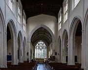 Interior of village pasruich church of Saint Mary the Virgin, Cavendish, Suffolk, England, UK