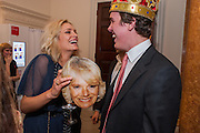 LEAH DE WAVRIN; MICHAEL, Tatler magazine Jubilee party with Thomas Pink. The Ritz, Piccadilly. London. 2 May 2012