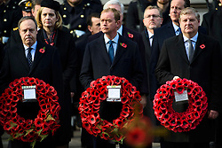Liberal Democrat leader Tim Farron during the annual Remembrance Sunday Service at the Cenotaph memorial in Whitehall, central London, held in tribute for members of the armed forces who have died in major conflicts. Picture date: Sunday November 13th, 2016. Photo credit should read: Matt Crossick/ EMPICS Entertainment.