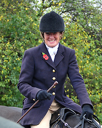 Belvoir Hunt Osbournby Village Jt/Master of the Belvoir Hunt Lady Sarah McCorquodale sister of the late Diana Princess of Wales, UK, November 1, 2012. Photo by i-Images.