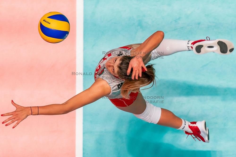 28-05-2019 NED: Volleyball Nations League Bulgaria - Poland, Apeldoorn<br /> <br /> Miroslava Paskova #6 of Bulgaria