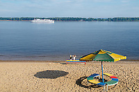Russie, Federation de Samara, Samara. Plage sur la Volga. // Russia, Samara federation, Samara. Beach on the Volga.
