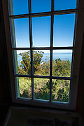 View from the lookout at Prisoners Harbor, Santa Cruz Island, Channel Islands National Park, California USA