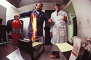 Failure Analysis Associates, Inc. (an engineering and scientific consulting firm now called Exponent). Menlo Park, California. Pop tart flame test. Larry Anderson. MODEL RELEASED