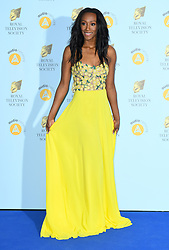 Victoria Ekanoye arriving at the Royal Television Society Programme Awards 2018 held at Grosvenor House Hotel, London. Photo credit should read: Doug Peters/EMPICS Entertainment