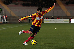 Lecce (LE), 16-01-2011 ITALY - Italian Soccer Championship Day 20 -  Lecce - Milan..Pictured: Grossmuller (L)..Photo by Giovanni Marino/OTNPhotos . Obligatory Credit