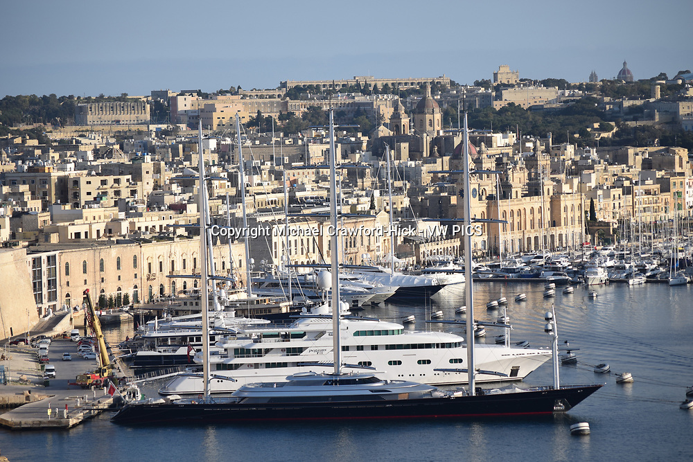 Maltese Falcon in  the Harbour in Valetta