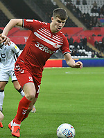 Football - 2019 / 2020 Sky Bet (EFL) Championship - Swansea City vs. Middlesbrough<br /> <br /> Paddy McNair of Middlesbrough on the attack, at The Liberty Stadium.<br /> <br /> COLORSPORT/WINSTON BYNORTH