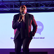 David Lammy attends People's vote to Stop Brexit rally due to Brexit vote in Parliament on 15 January 2019, London, UK