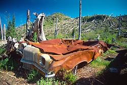 Miner's Car, Mt. St. Helens National Volcanic Monument, Washington, US