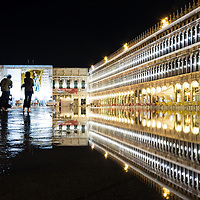 Flooding affects St Marks Square in Venice.