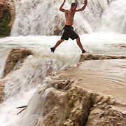Arizona Outback Adventures, based in Scottsdale, AZ, leads a 4-day hiking trip of Havasupai Falls within the Grand Canyon National Park in Arizona.