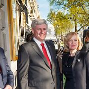 NLD/Amserdam/20150505 - Bevrijdingsconcert 2015 Amsterdam, aankomst Canadese premier Stephen Haper en partn Laureen