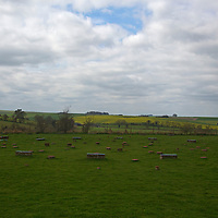 Europe, Great Britain, England, Avebury. The Sanctuary at Overton Hill, a prehistoric UNESCO World Heritage Site.