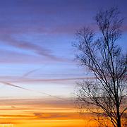 Vibrant Sunset Over Lake Michigan