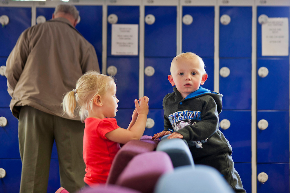 Children playng in the visitors centre before their vist into the prison begins. HMP Nottingham visitors centre run by the Prison Advice and Care Trust, PACT.