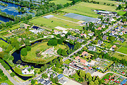 Nederland, Utrecht, Maarssen, 10-06-2015; Werk bij Maarsseveen, onderdeel Hollandse Waterlinie. Tegenwoordig C-fordt, broedplaats voor 'kunst, cultuur en recreatie'. <br /> Former fort, part of the Hollandse Waterlinie (Dutch Water defense line).<br /> luchtfoto (toeslag op standard tarieven);<br /> aerial photo (additional fee required);<br /> copyright foto/photo Siebe Swart