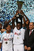 FOOTBALL - TROPHEE DE CHAMPIONS 2010 - OLYMPIQUE MARSEILLE v PARIS SAINT GERMAIN - 28/07/2010 - PHOTO PHILIPPE LAURENSON / DPPI - OM TROPHY
